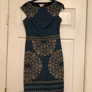 London Times Peacock dress - size 4